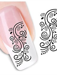 1sheet  Water Transfer Nail Art Sticker Decal XF1462