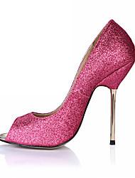 Women's Heels Summer Comfort Synthetic Wedding Party & Evening Dress Stiletto Heel Black Pink Silver Gold Light Blue Dark Grey