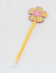 Shining Plastic/Cloth/Ribbon Handmade Flower BallPoint Pen