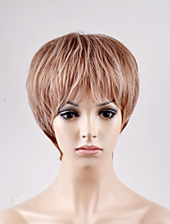 Europe and the United States new short paragraph fluffy brown red BOBO head high temperature wire wig