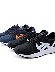 Men's Sneakers Spring Fall PU Casual Lace-up Black Navy Blue Walking
