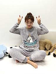 tiro real! outono coreano e grossas de inverno quente fleece pijama treino unicórnio narval