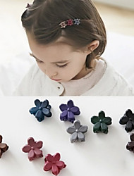 10 Pcs Children Hair Ornament Lovely Small Frosted Mini Flower Hairpin Girls Baby Clip Hairpin Random Colors