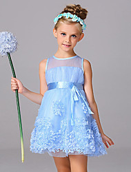 Girl's Casual/Daily Party/Cocktail Solid Patchwork Dress,Polyester Mesh Summer Sleeveless