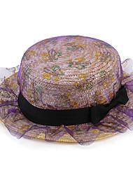 2017 New Korean Lace Net Yarn Bow Straw Straw Straw Hat