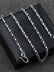Men's Women's Pendant Necklaces Chain Necklaces Collar Necklace Jewelry Sterling Silver Single Strand Jewelry Basic Vintage Fashion Silver