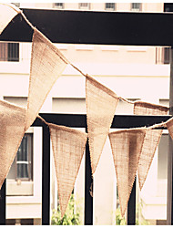 3meter/Pcs 13*15cm  13pcs Flag Hessian Flags And Banners Rustic Hessian Garland Bunting / Country Wedding Decorations
