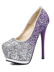 Women's Heels Spring Summer Fall Winter Light Up Shoes Glitter Wedding Casual Party & Evening Stiletto Heel Rhinestone Purple Blue Pink