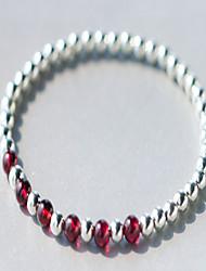 Femme Bracelets de rive Argent sterling Pierres de naissance Simple Style Amour Argent Bijoux 1pc