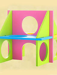 Rodents Cages Foldable Toy Wood Multicolor
