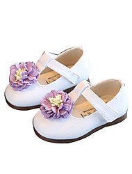 Girl's Flats Flower Girl Shoes Leather Outdoor Casual Pink White