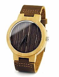 Unissex Relógio de Moda Único Criativo relógio Quartzo Couro Banda Cáqui marca