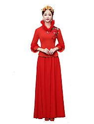 Classic/Traditional Lolita Vintage Inspired Elegant Cosplay Lolita Dress Print Long Length Dress For Terylene