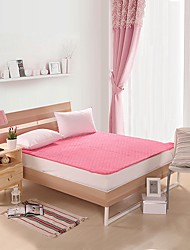 Bedtoppings Mattress Topper/Pad Fiber Bed Coral Fleece Face & Polyester Microfiber Back Queen size Quilt Stitching With Elastic