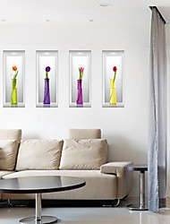 Moda Floral 3D Adesivos de Parede Autocolantes de Aviões para Parede Autocolantes 3D para Parede Autocolantes de Parede Decorativos,Papel