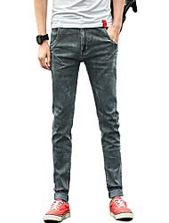 Hommes Grandes Tailles Mince Jeans Chino Pantalon,Vintage simple Street Chic Décontracté / Quotidien Couleur Pleine Déchiré Taille Basse