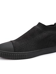 Men's Sneakers Spring Summer Fall Winter Comfort Microfibre PU Outdoor Office & Career Casual Athletic Gore Black
