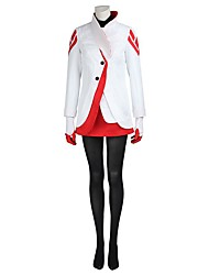 Cosplay Video Game Cosplay Costumes Cosplay Suits Cosplay Tops/Bottoms Solid White Coat Top Gloves Stockings