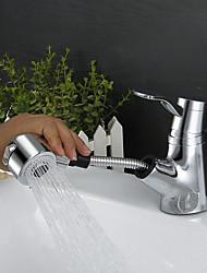 Contemporáneo Arte Decorativa/Retro Modern Conjunto Central Ducha lluvia amplia de spray Espray de Desmontable with  Válvula CerámicaSola