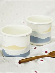 Vintage Drinkware, 400 ml Portable Enamel Coffee Milk Coffee Mug Travel Mugs