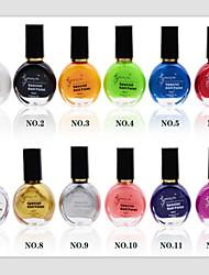 12pcs uñas impresión esmalte de uñas especial de aceite