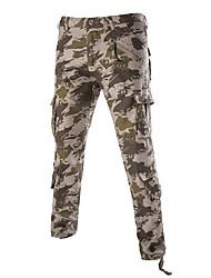 Hommes Ample Droite Chino Pantalon,Vintage simple Décontracté / Quotidien Plage Vacances Camouflage Taille Normale fermeture Éclair Coton