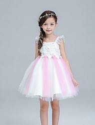 Girl's Rainbow Dress,Polyester Summer Sleeveless
