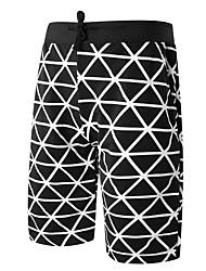 Hommes Ample Short Pantalon,simple Actif Punk & Gothic Décontracté / Quotidien Plage Vacances Camouflage Plissé Taille Normale Cordon