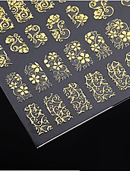 1x 108 PC 3D fleurs d'or Nail Art Sticker Stickers pour autocollants nail art