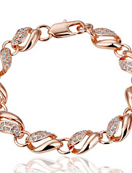 Women's Chain Bracelet Alloy Simulated Diamond 18K gold Fashion Jewelry Gold Jewelry 1pc