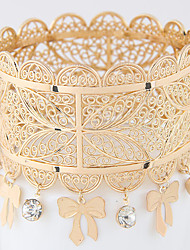 Women's Bangles Alloy Fashion Bohemia Bowknot Golden Jewelry 1pc