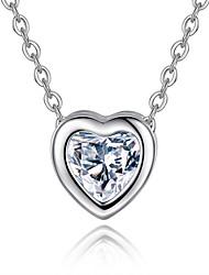 Eight eight new fashion Heart Pendant Necklace 0349# zircon heart-shaped arrows