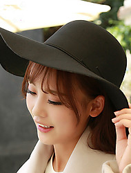 Women 'S Autumn And Winter Fashion Cashmere Woolen Dome Big Along The Hats England Big Canopies Sun Hat