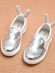 Mädchen-Loafers & Slip-Ons-Lässig-PUKomfort-Rosa Silber Gold