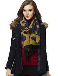 Women's Winter Cotton Wool Blend Scarf with Tassel