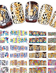 1pcs 12design Sexy Leopard Image Decoration Water Transfer Decals Nail Art Sticker Beauty Tips BN85-96