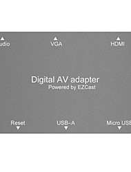 Micro USB to HDMI  VGA HDTV  Audio Converter Digital AV Adapter Directly used  for iPhone Android Pad Notebook