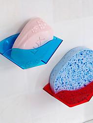Double Suction Cup Rack Shelf Sponge Sink Clean Ball Drop Color Random