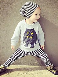 Baby Fashionable And Lovely Cotton Color Green Camouflage Color Stitching Matching Pants Two-Piece Outfit