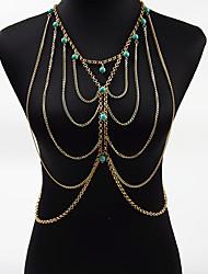 Bijoux de Corps/Chaîne de Corps Alliage Turquoise Mode Bohême Doré 1pc