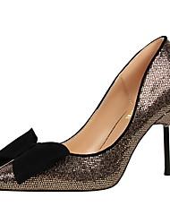 Women's Heels Spring Fall Gladiator Fabric Dress Stiletto Heel Bowknot
