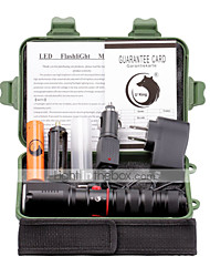 UKing ZQ-X1062B#-US Zoonmable XM-L2 3000Lm 3Mode LED Flashlight Torch Kit Direct Charging Function with Battery and Charger