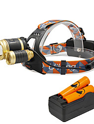 U'King® ZQ-G808GO#-EU 3 * CREE XML-T6 6000LM 4Mode Zoomable Headlamp Kit with 2*18650 Battery and Charger