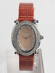 Fashion Watch Quartz / PU Band Casual Brown Brand