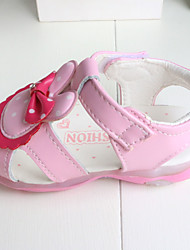 Baby Flats Summer First Walkers Other Animal Skin Outdoor Casual Low Heel Magic Tape White Fuchsia Pink Walking