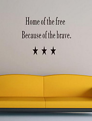 Quotes Wall Sticker Vinyl Material Home Decoration