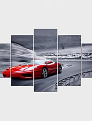 Stretched Canvas Print Leisure Style Modern,Five Panels Canvas Any Shape Print Wall Decor For Home Decoration