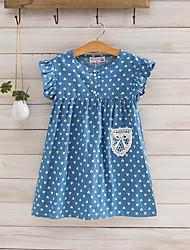 Girl's Print Patchwork Dress,Rayon Summer Short Sleeve