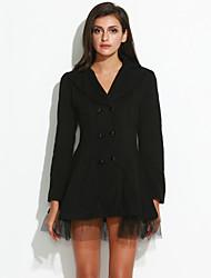 collo bavero cappotto doppio petto delle donne Yiluo
