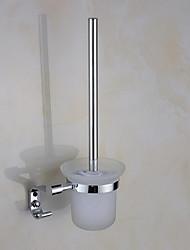 Escovas e acionistas WC Contemporânea Redondo Aço Inoxidável